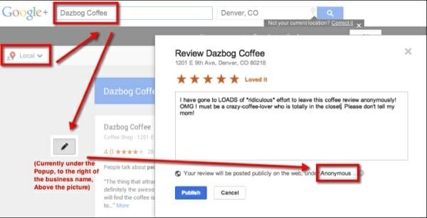 How to leave anonymous name google review