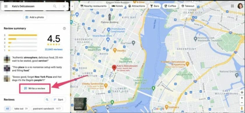 leave anonymous review on Google Map